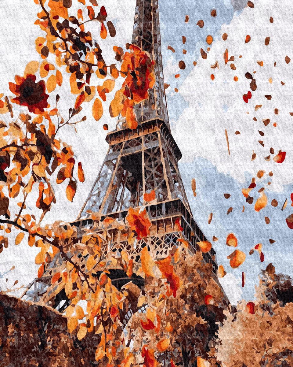 Картина по Номерам Осень в Париже 40х50см RainbowArt
