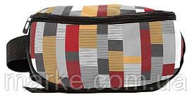 Поясна сумка, бананка з текстилю в клітку Paso 18-510KS