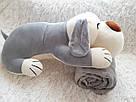 Іграшка-плед-подушка  Велика собака🐶🐾 розмір іграшки 70х35, фото 9