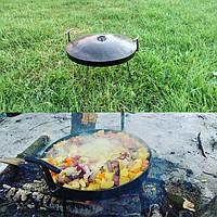 Сковорода туристична з диска, борони 40 см з кришкою