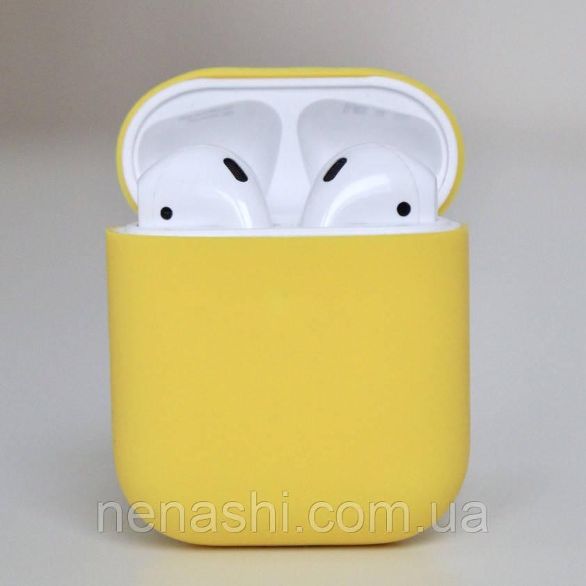 Чехол силиконовый для беспроводных наушников Apple AirPods Желтый