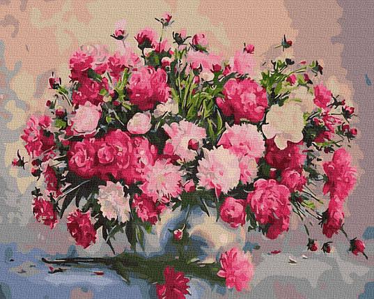 Картина за Номерами Букет садових квітів 40х50см RainbowArt, фото 2