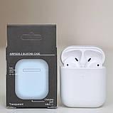 Чохол силіконовий для бездротових навушників Apple AirPods з карабіном Прозорий, фото 2