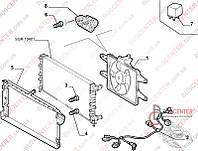 "Диффузор радиатора c вентилятором (вентилятор радиатора ""без кондиционера"") Fiat Doblo (2000-2005) 46737733 FAST FT56086"