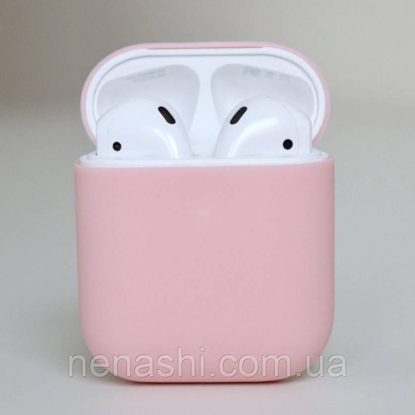 Чехол силиконовый для беспроводных наушников Apple AirPods Розовый