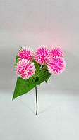 """Розовая """"краспедия"""" 22см искусственные шарообразные цветы, фото 1"""