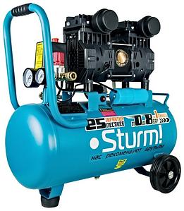 Компрессор безмасляный бесшумный Sturm AC93224OL 24 литров + шланг 10 метров!