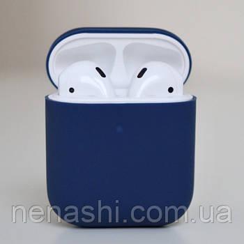 Чехол силиконовый для беспроводных наушников Apple AirPods Синий