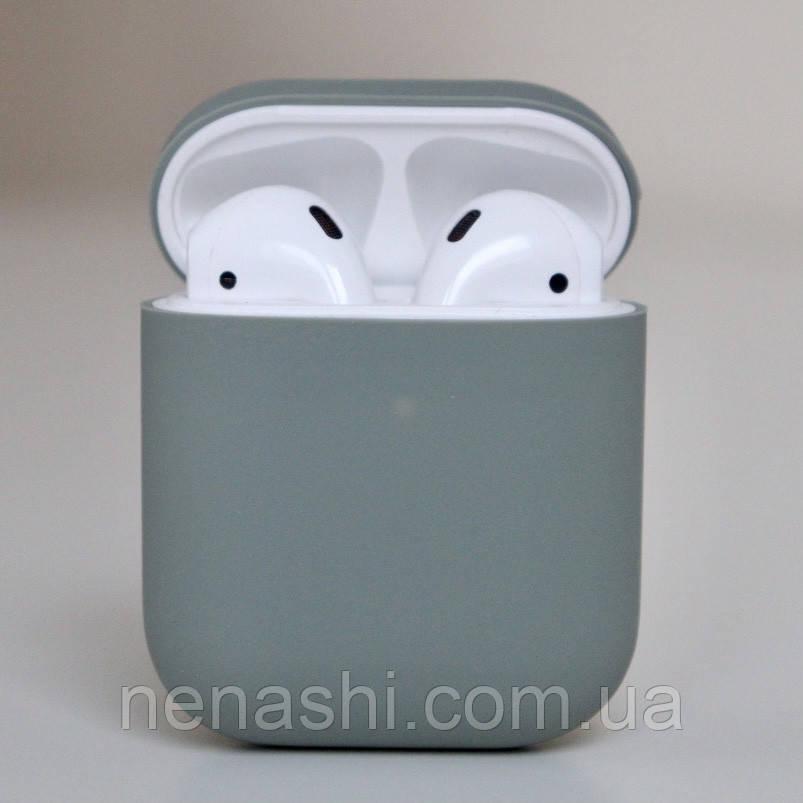 Чехол силиконовый для беспроводных наушников Apple AirPods Серый