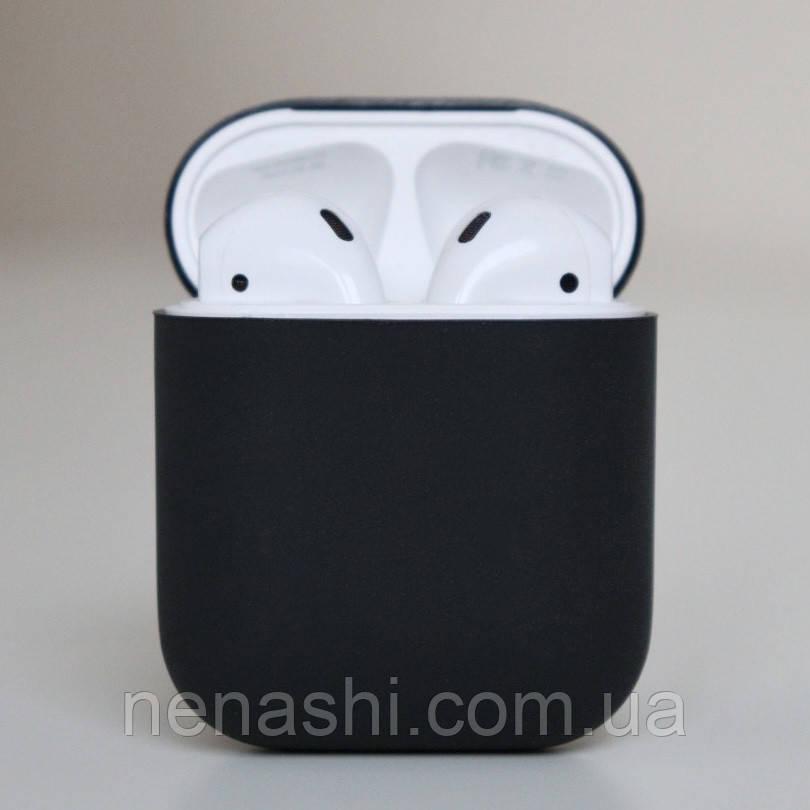 Чохол силіконовий для бездротових навушників Apple AirPods з карабіном Чорний