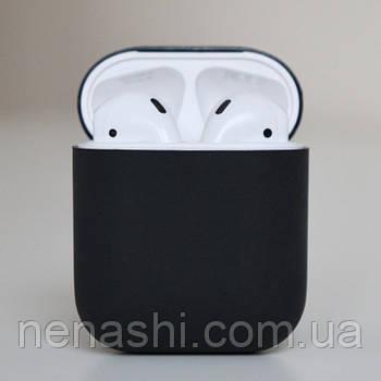 Чехол силиконовый для беспроводных наушников Apple AirPods Темно-серый (Черный)