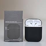 Чехол силиконовый для беспроводных наушников Apple AirPods Темно-серый (Черный), фото 2