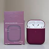 Чехол силиконовый для беспроводных наушников Apple AirPods Темно-фиолетовый, фото 2