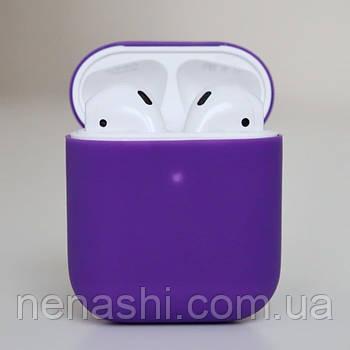 Чехол силиконовый для беспроводных наушников Apple AirPods Фиолетовый