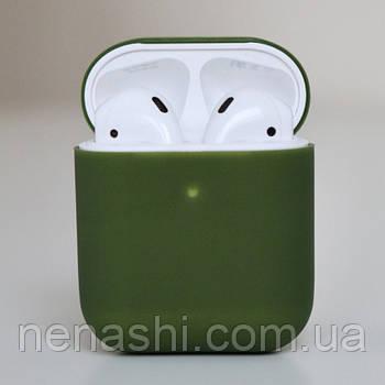 Чехол силиконовый для беспроводных наушников Apple AirPods Хаки