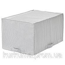 IKEA STUK Сумка, белая / серая, 34x51x28 см (403.096.86)