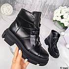 Жіночі демісезонні чорні черевики, натуральна шкіра, фото 9