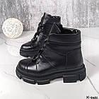 Жіночі демісезонні чорні черевики, натуральна шкіра, фото 8