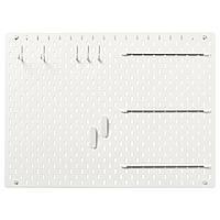 IKEA SKADIS Комбинированная перфорированная доска, белый, 76x56 см (492.166.97)