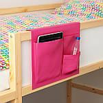 IKEA STICKAT Карман для кровати, розовый, 39x30 см (902.962.95), фото 2