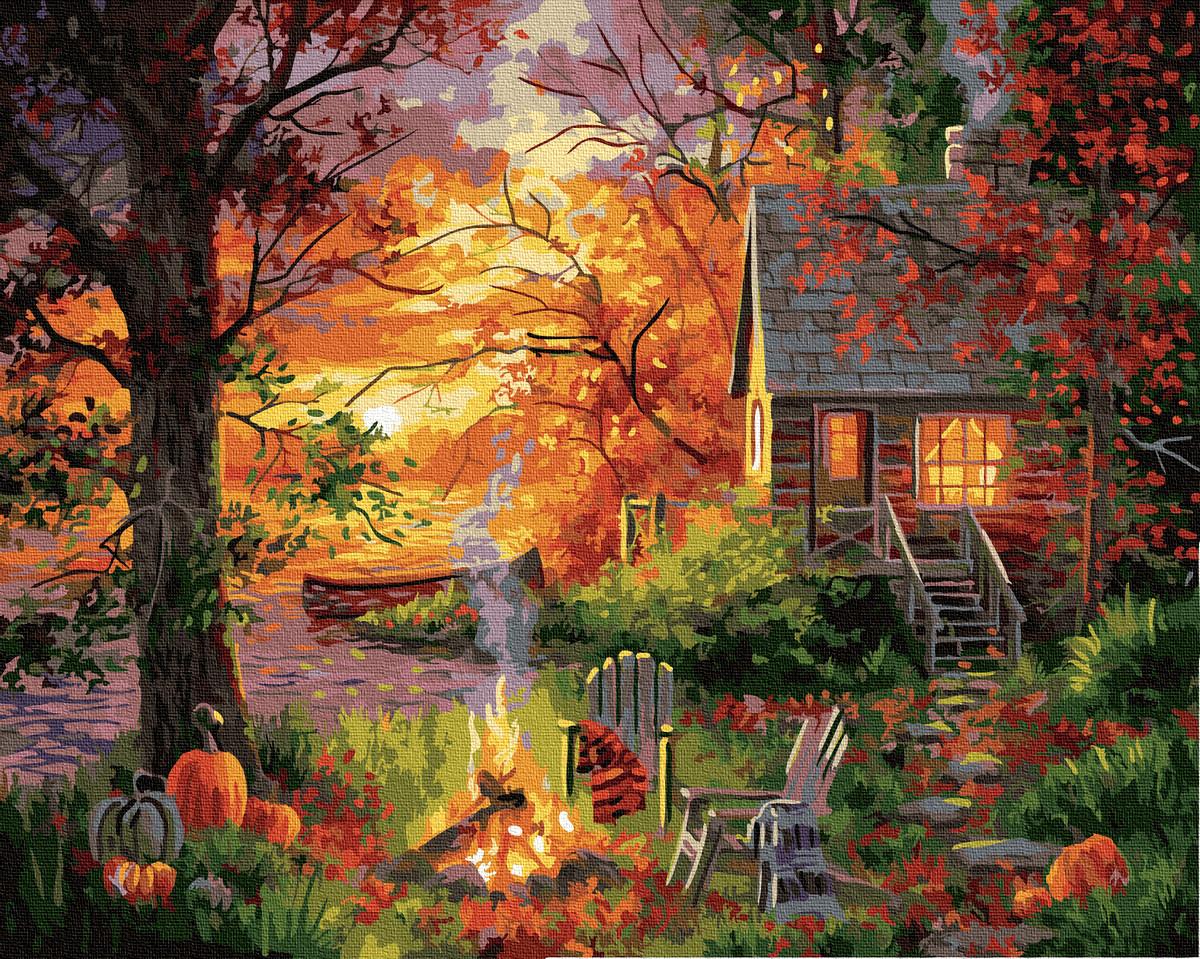 Картина по Номерам Загородная осень 40х50см RainbowArt