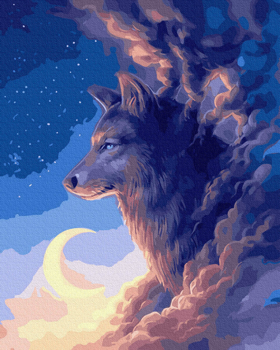Картина по Номерам Волк в облаках 40х50см RainbowArt