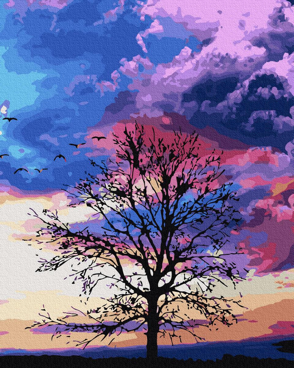Картина по Номерам Осеннее дерево 40х50см RainbowArt