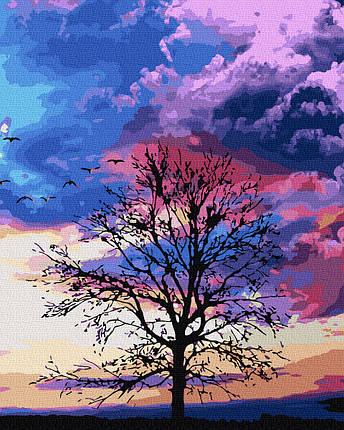 Картина по Номерам Осеннее дерево 40х50см RainbowArt, фото 2