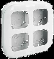 Блок установочный до 4 постов Quteo-Forix IP20 белый