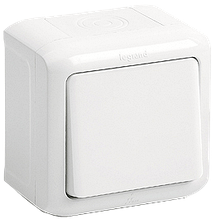 Выключатель 1-клавишный Quteo-Forix IP44 белый