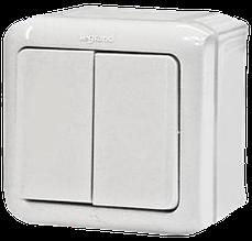 Выключатель 2-клавишный Quteo-Forix IP44 белый