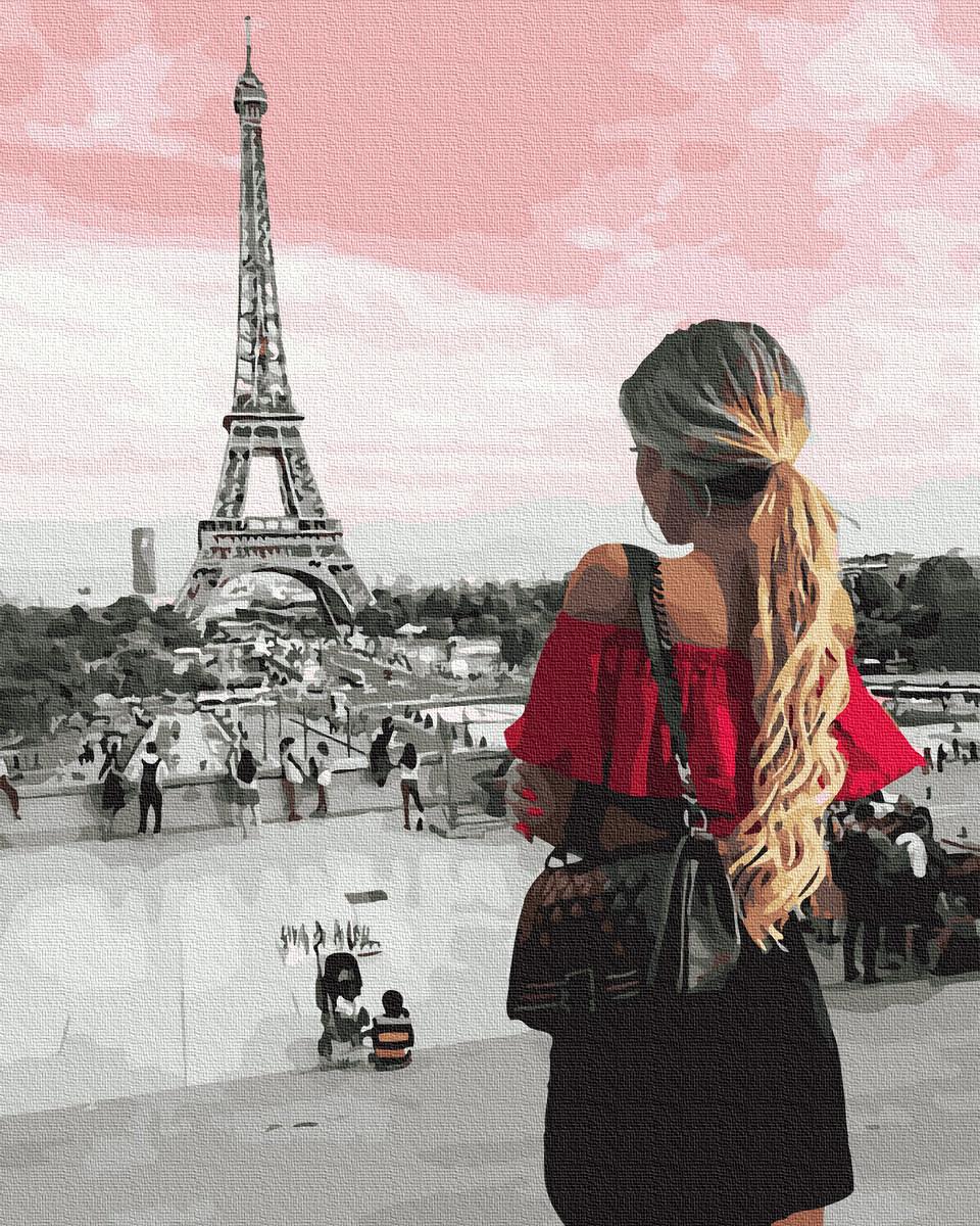 Картина по Номерам Встреча с Парижем 40х50см RainbowArt