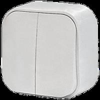 Выключатель 2-клавишный Quteo-Forix IP20 белый