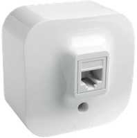 Розетка компьютерная RJ45 кат. 5е UTP Forix IP20 белый