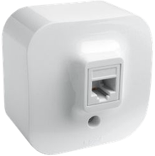 Розетка компьютерная RJ45 кат. 5е UTP Quteo-Forix IP20 белый