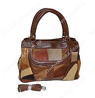 Женская сумочка кожаная из кусочков Tongle 36152