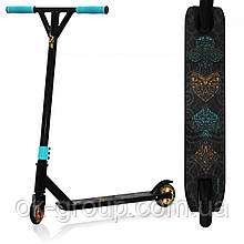 Трюковой самокат SportVida Stunt Poker SV-WO0017 Black/Blue