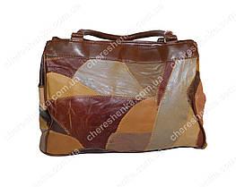 Женская сумочка кожаная из кусочков Tongle 36152, фото 2