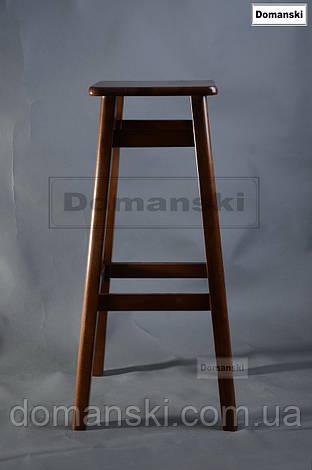 Барные стулья. Барный   табурет тонированный под лаком. Стул для кофейни. 80 см высота., фото 2