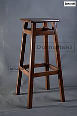 Барные стулья. Барный   табурет тонированный под лаком. Стул для кофейни. 80 см высота., фото 3