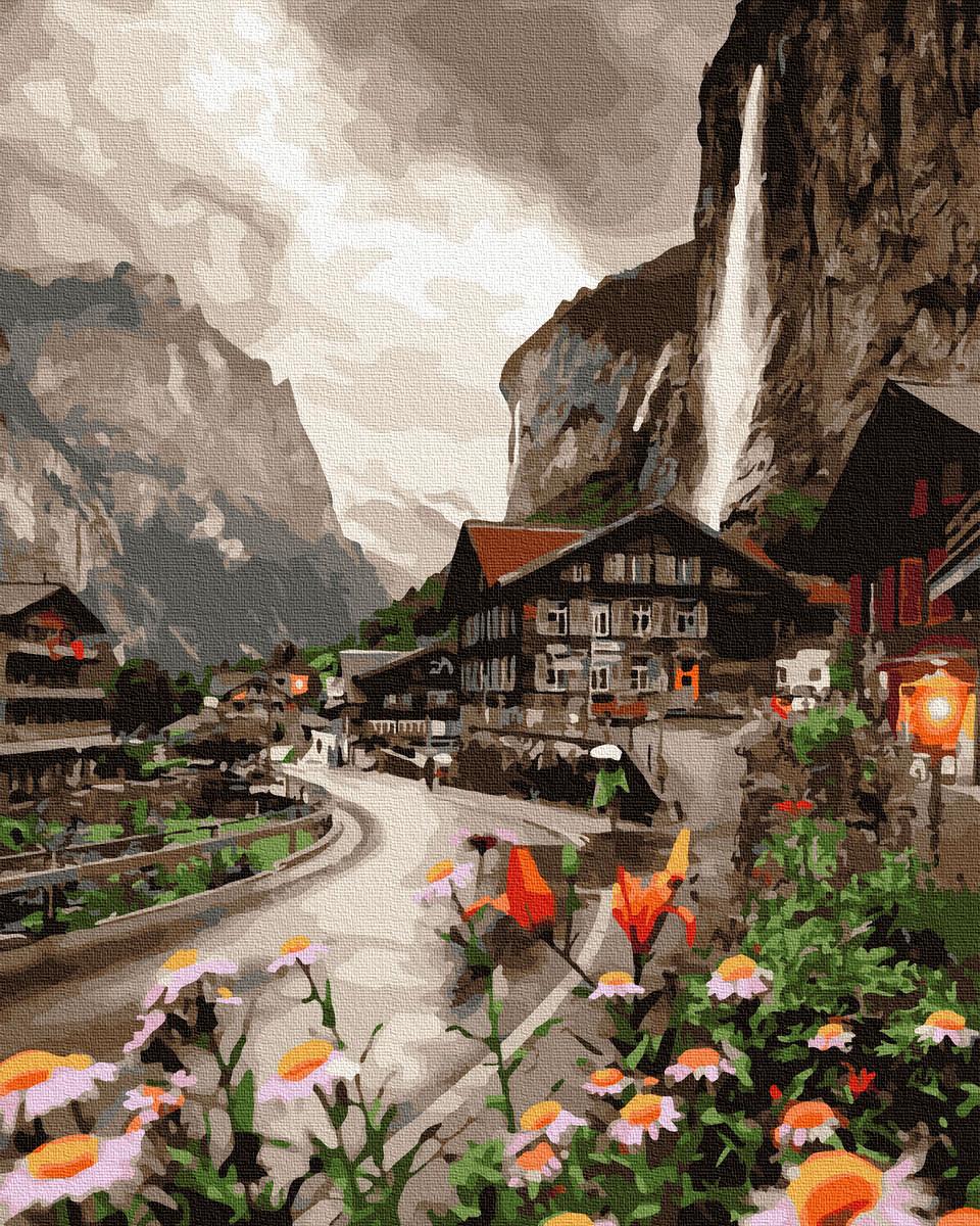 Картина по Номерам Городок в Швейцарии 40х50см RainbowArt