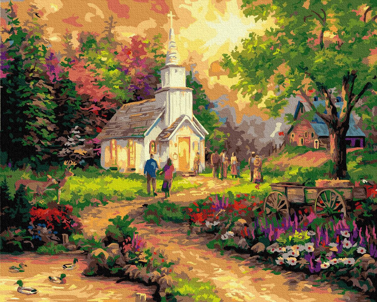 Картина по Номерам Воскресный приход 40х50см RainbowArt
