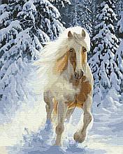 Картина за Номерами Сильний скакун у зимовому лісі 40х50см RainbowArt