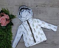 Куртка детская демисезонная со светоотражателем Boy Girl для девочки 2-5 лет,серого цвета, фото 1