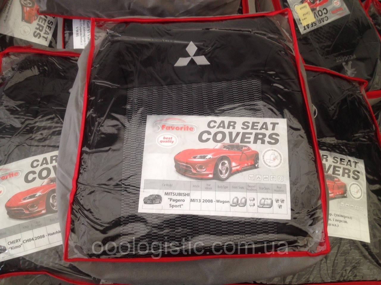 Авточехлы на Mitsubishi Pajero Sports 2008 > wagon, Favorite на Мицубиси Паджеро Спорт