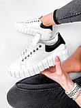 Кроссовки женские Brianca белые натуральная кожа, фото 6