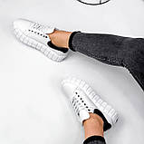 Кроссовки женские Brianca белые натуральная кожа, фото 9