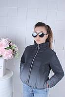 Куртка демісезонна підліткова світловідбиваюча ХІТ для дівчинки 9-14 років.чорного кольору, фото 1
