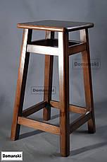 Барные стулья. Барный табурет тонированный под лаком. Стул для кофейни. 60 см высота., фото 3