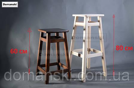 Барные стулья. Барный табурет тонированный под лаком. Стул для кофейни. 60 см высота., фото 2